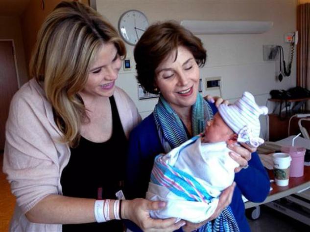 Jenna Bush Hager, Laura Bush and baby Mila