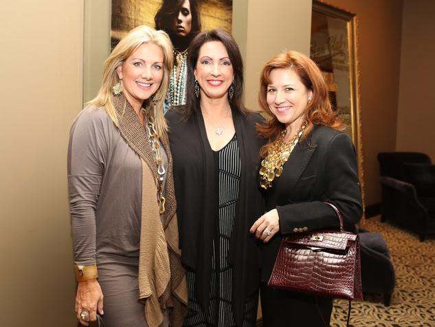 100, Saks Fifth Avenue Donna Karan Ambassadors party, November 2012, Anne Carl, Alicia Smith, Donae Cangelosi Chramosta