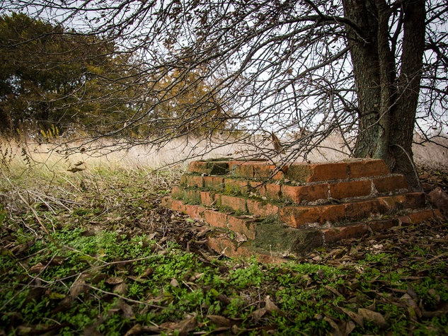 Photo of old brick structure from old home