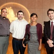 150 A.J. Santos, from left, Nick Smith, Aditi Nayar and Jordan Witherspoon at the Leo Bar relaunch party October 2013