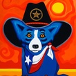Houston, Rodrigue Exhibit at West Ave, June 2015, Take Me Back to Texas 2012