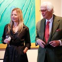 Slavka Glaser and Fred Baldwin at Slavka Glaser's  FotoFest reception March 2014