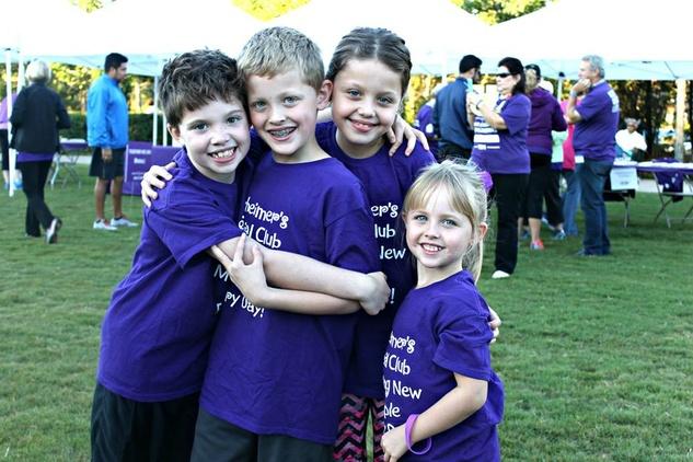 Children participate in Walk to End Alzheimer's