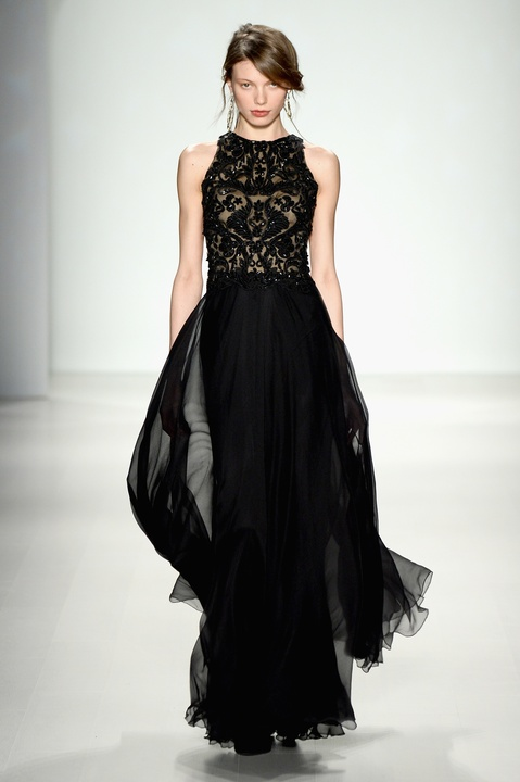 Tadashi Shoji evening gown fall collection Feb 2014