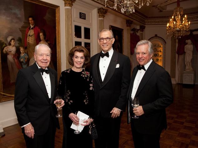 Wally Wilson and Jeanie Kilroy Wilson, from left, Gary Tinterow and John Kotts at the Rienzi Society dinner January 2014