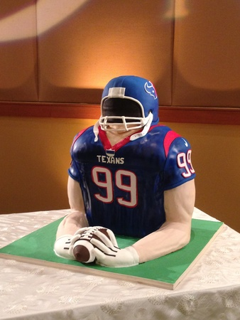 J.J. Watt, wedding cake, February 2013