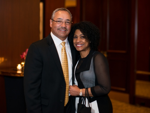 Stanford and Chrissy LeBlanc at the Crisis Intervention Gala April 2014