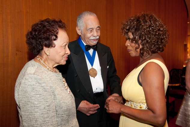 Estell and Dr. Thomas Freeman, from left, with Alfre Woodard at the ADL Houston in Concert Against Hate November 2013