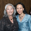 Donna F. Cole, left, and Y. Ping Sun at the Center for Houston's Future luncheon March 2015
