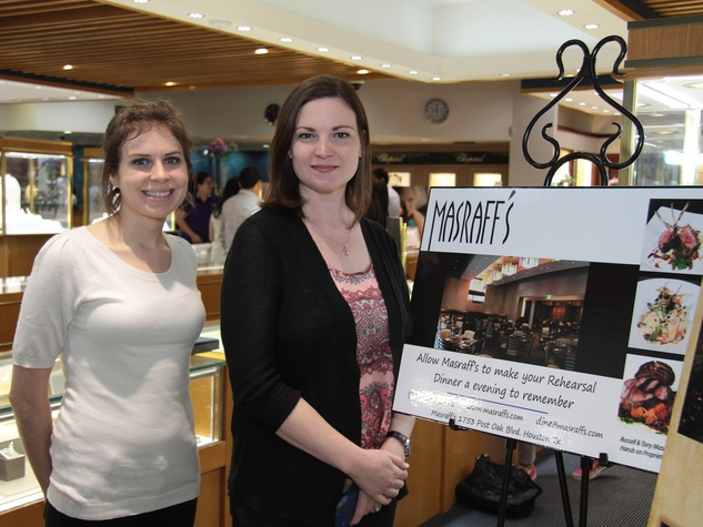 3371, Zadok Jewelers, grand wedding band event, March 2013, Cortney Stanchfield and Holly MacArevey with Masraff's and the Wynden Catering