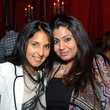 Swati Narayan, left, and Afsheen Tejani at the Don Vaughn CD Launch Party August 2014