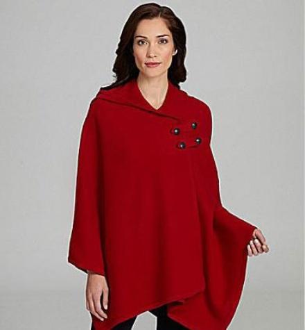 Pendleton Hooded Knit Cape, Dillard's