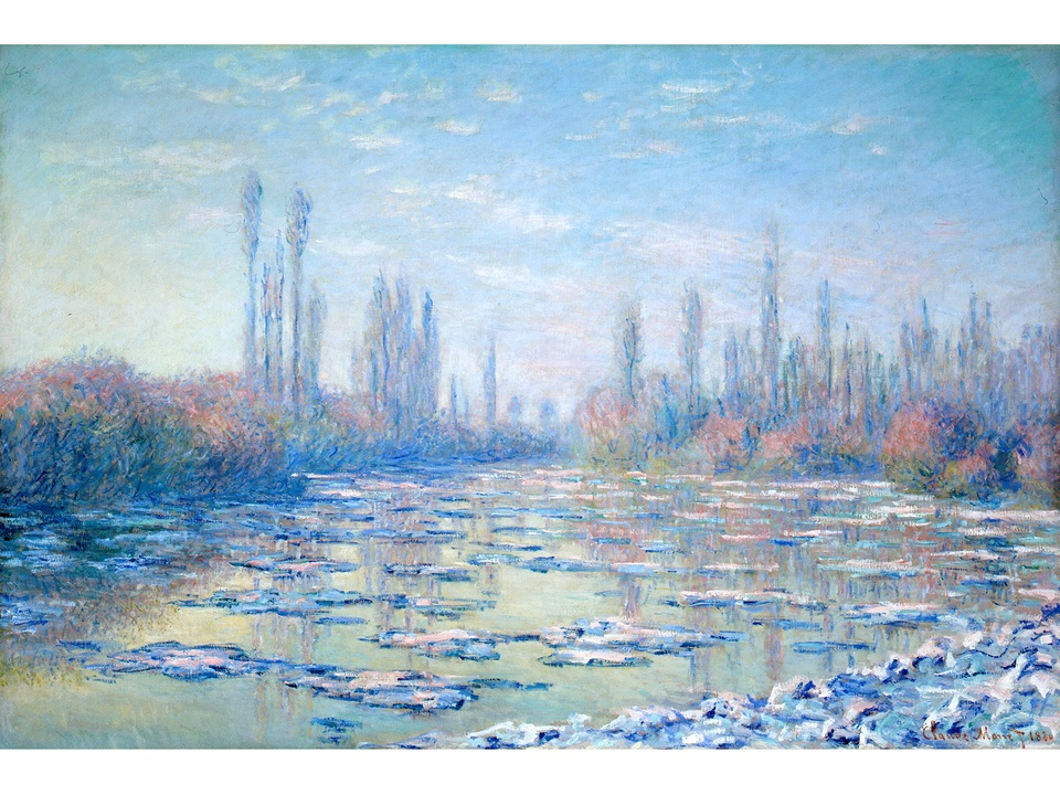 MFAH Monet and the Seine Impressions of a River October 2014 Claude Monet - The Ice Floes