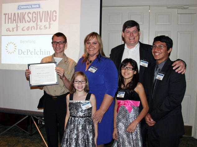Harry and Ann Marie Gallagher, Wesley finalist in 15-18 category and siblings Angelina, Samantha and Jose