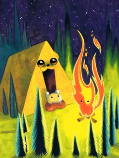 Adventure Time Mondo gallery Jake as a Tent by Tiny Kitten Teeth