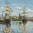 MFAH Claude Monet May 2014 - Ships Riding on the Seine at Rouen