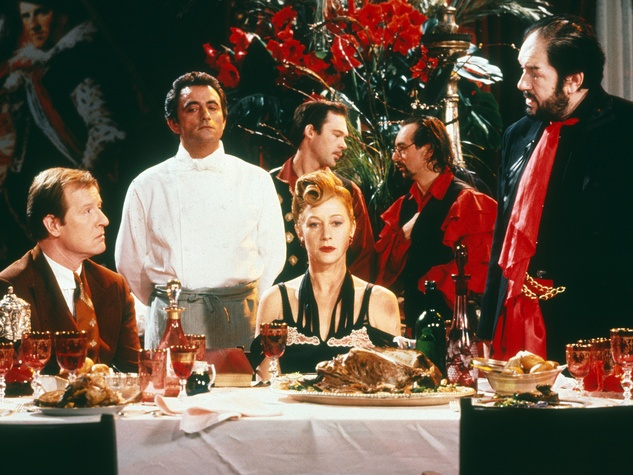 The Cook the Thief His Wife & Her Lover, dinner scene