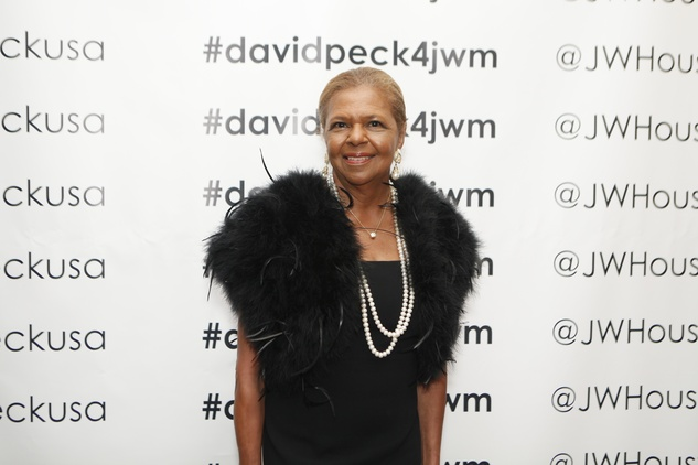 Yvonne Cormier at the David Peck runway show September 2014