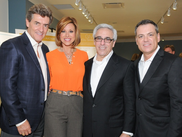 Nick Florescu, from left, Dominque Sachse, Mitchell Gold and Bob Williams at the Mitchell Gold + Bob Williams Houston grand opening celebration