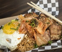 Wokker pork belly fried rice craft beer cellar