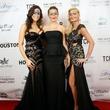 11 Amanda Abiassi, from left, Lena Thomas and Angela Lipsey at Hope Masquerade for a Cure Gala November 2013