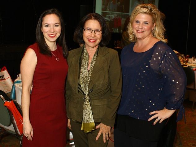 Caroline Kohl, Nicole Kohl and Barbie Kohl, milestones luncheon
