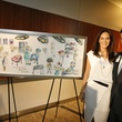 19 Karla and Jorge Goudet with painting by Mexico-based artist Luis Lara at the Texas Children's Hospital What's Up Doc dinner November 2014