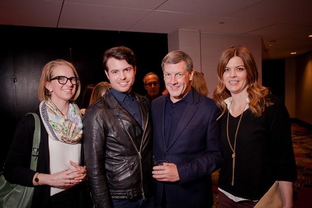 Jennifer Nelson, from left, Matt Johns, Neil Hamil and Lauren Parsons at the Texas Film Awards Event February 2015