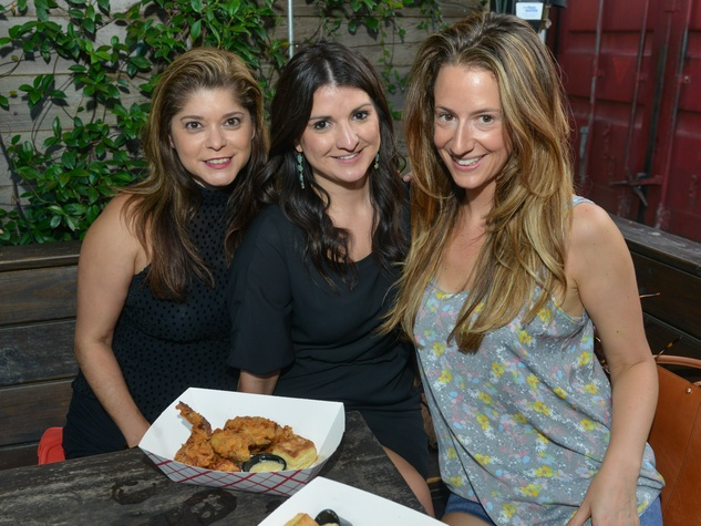 7 Marcy de Luna, from left, Erin Garza, Jacqueline Uram at the CultureMap Social at Boheme September 2014