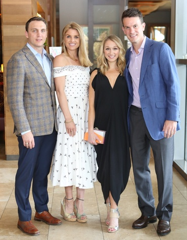 Houston Ballet Barre dinner, April 2016 Jason Arnoldy, Lindley Arnoldy, Erin Stewart, James Stewart