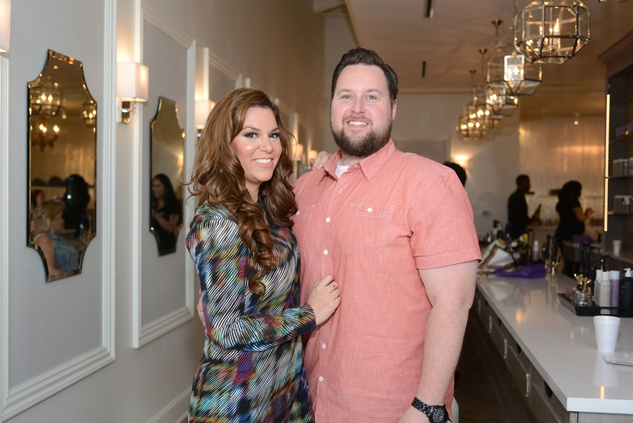 3 Greer and Brandon McDonald at the Brush & Blush Blow Dry Bar party June 2014