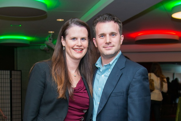 News, Alley Theatre Christmas Tree party, Nov. 2015, Shannon and Matt Cochrane