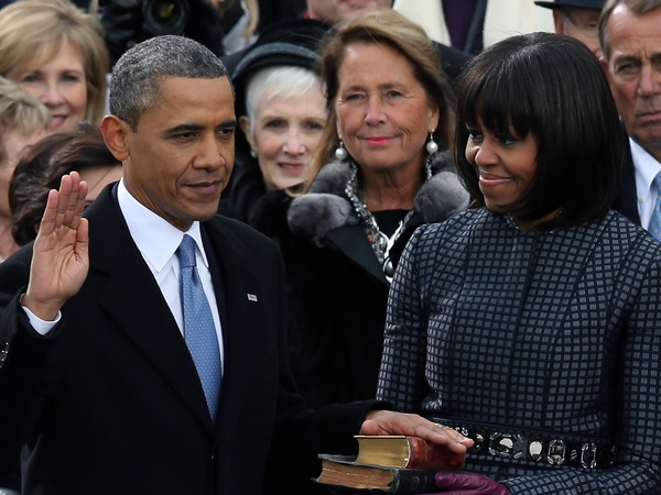 Barack Obama, Michelle Obama, inauguration, January 2013