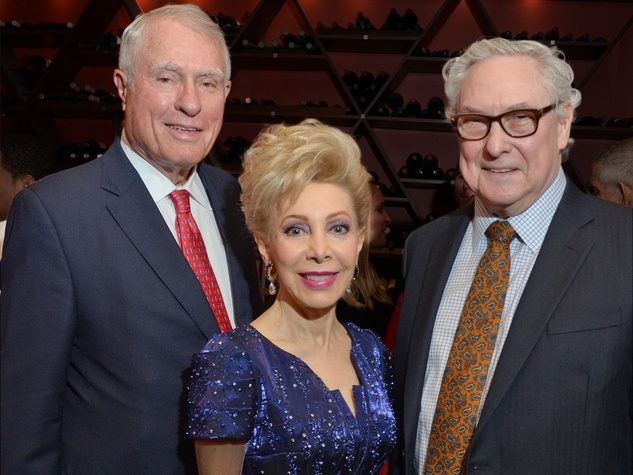 Jim Daniel, from left, Margaret Alkek Williams and Bud Frazier at the Texas Heart Institute dinner April 2014