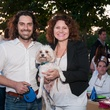 Matthew Wettergreen and Claudia Solis with D'arcy at the Urban Green Birthday en Blanc May 2014
