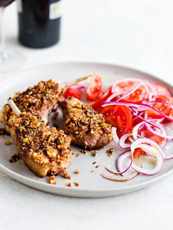 Dukkah spice on lamb cutlets