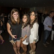 Goleol Sharia, from left, Olivia Winter and Alessandra Rey at the MFAH Mixed Media Party June 2014