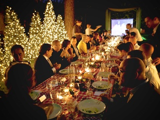 5 Deborah Elias My Favorite Things May 2013 The guests enjoy an intimate evening at a dramatically set long table