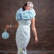 Toilet paper wedding gown by Amber Mills of Hurst