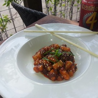 Underbelly Houston Korean braised goat and dumplings