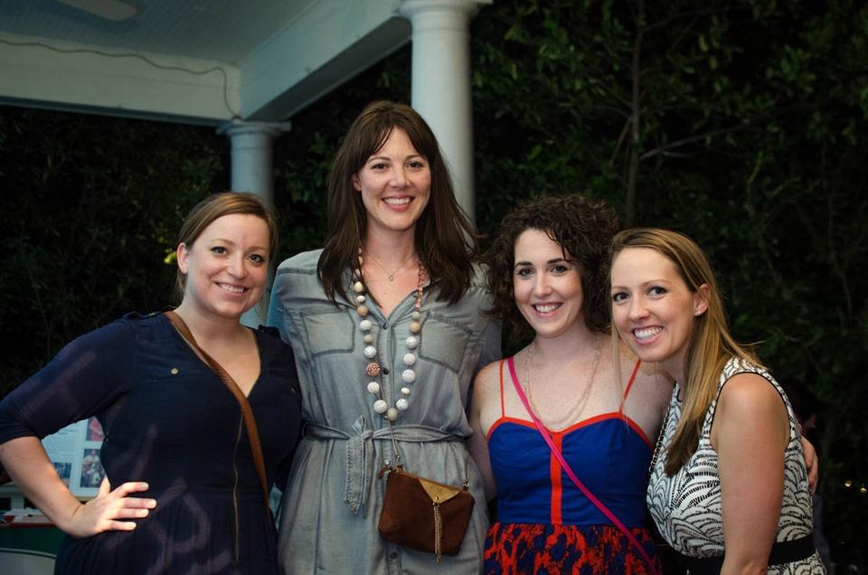 Charitybash Benefit Bonnie O'Neil, Maren Curtis, Amelia Whitman and Katie Fillmore