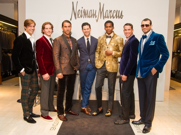 15 Neiman Marcus men's trends September 2013 Matthew Singer in middle
