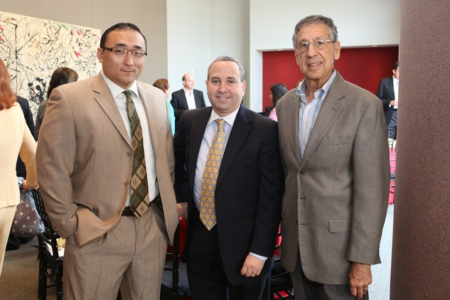 6 Alan Cheng, from left, Steve Goodman and Richard Lowenstern at the Alley Theatre groundbreaking luncheon July 2014