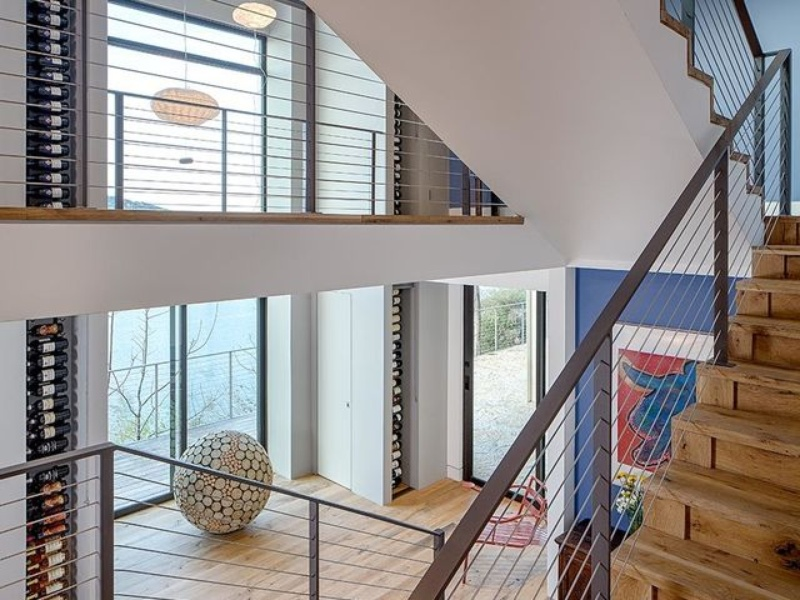 Austin cliff home Houzz staircase