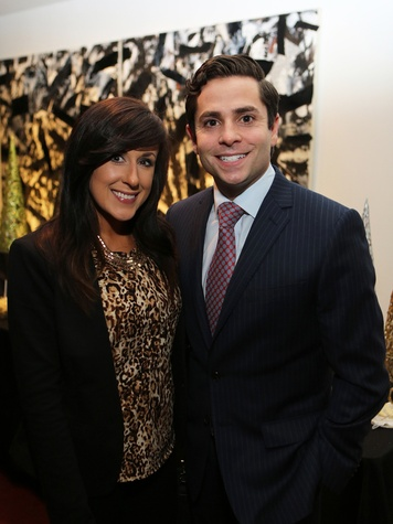 Jennifer Graff and Marc Eichenbaum at the Alley Young Professionals holiday party December 2013