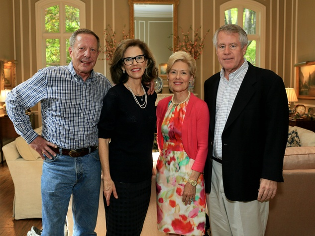 Thad and Ellen Moore, Suzy Rhodes, Bill Denton, Flora Award Announcement Party