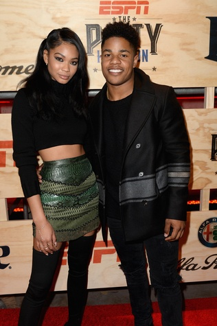 Model Chanel Iman and NFL player Sterling Shepard attend the 13th Annual ESPN The Party