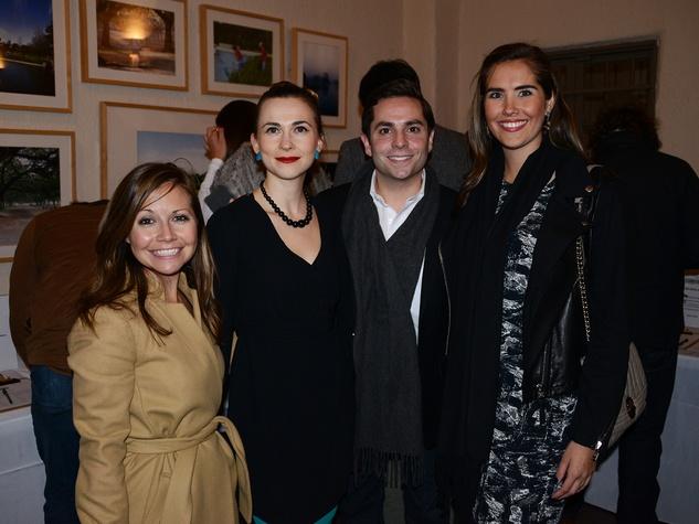 Meghan Miller, from left, Gwen Bradford, Mark Eichenbaum and Catherine Bradley at the Hermann Park Conservancy's Urban Green event November 2014