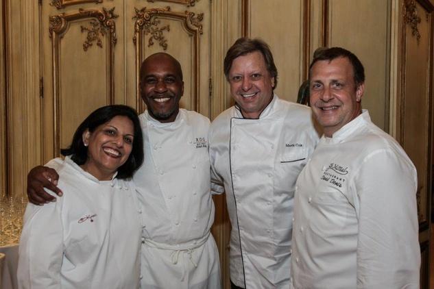 9 Kiran Verma, from left, Elliott Kelly, Mark Cox and David Denis at the AVDA Home Safe Home event October 2014