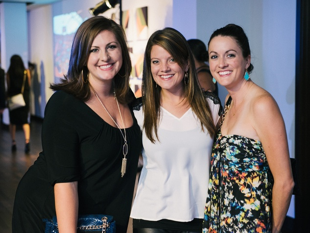 13 Laura Dols, from left, Kelly Elliott and Ashley Long at CultureMap fifth anniversary birthday party October 2014